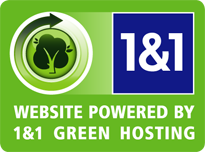 Hosted by 1&1 - Green Hosting